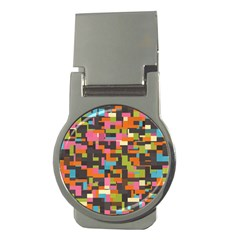 Colorful Pixels Money Clip (round)