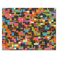 Colorful Pixels Jigsaw Puzzle (rectangular)