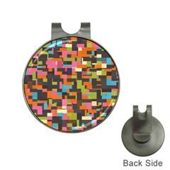 Colorful Pixels Golf Ball Marker Hat Clip