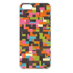Colorful Pixels Apple Iphone 5 Seamless Case (white)