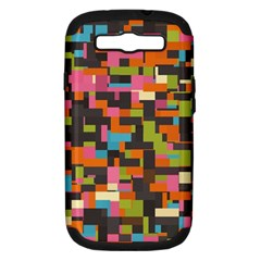 Colorful Pixels Samsung Galaxy S Iii Hardshell Case (pc+silicone)