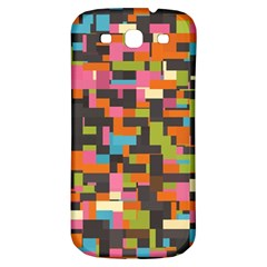 Colorful Pixels Samsung Galaxy S3 S Iii Classic Hardshell Back Case