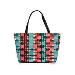 Red And Green Squares Classic Shoulder Handbag