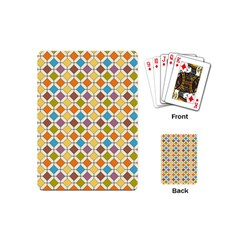 Colorful Rhombus Pattern Playing Cards (mini)