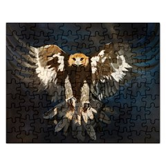 Golden Eagle Jigsaw Puzzle (rectangle) by JUNEIPER07