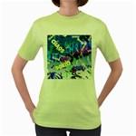 Pure Chaos Women s T-shirt (Green)