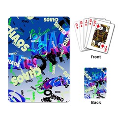 Pure Chaos Playing Cards Single Design by StuffOrSomething