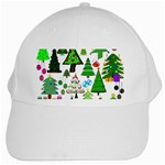 Oh Christmas Tree White Baseball Cap
