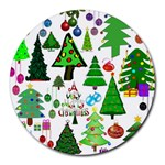 Oh Christmas Tree 8  Mouse Pad (Round)