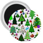Oh Christmas Tree 3  Button Magnet