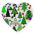 Oh Christmas Tree Heart Ornament