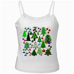 Oh Christmas Tree White Spaghetti Tank