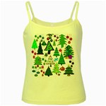 Oh Christmas Tree Yellow Spaghetti Tank