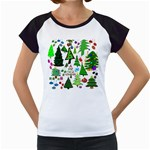 Oh Christmas Tree Women s Cap Sleeve T-Shirt (White)