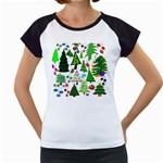 Oh Christmas Tree Women s Cap Sleeve T-Shirt (White)