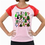 Oh Christmas Tree Women s Cap Sleeve T-Shirt (Colored)