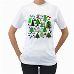 Oh Christmas Tree Women s Two-sided T-shirt (White)