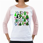 Oh Christmas Tree Women s Long Cap Sleeve T-Shirt (White)