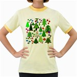 Oh Christmas Tree Women s Ringer T-shirt (Colored)