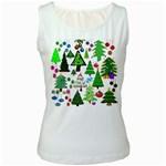 Oh Christmas Tree Women s Tank Top (White)