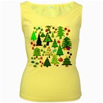 Oh Christmas Tree Women s Tank Top (Yellow)