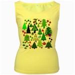 Oh Christmas Tree Women s Tank Top (Yellow)