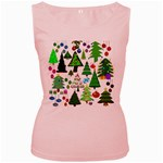 Oh Christmas Tree Women s Tank Top (Pink)