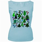Oh Christmas Tree Women s Tank Top (Baby Blue)