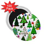 Oh Christmas Tree 2.25  Button Magnet (100 pack)