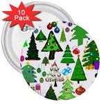 Oh Christmas Tree 3  Button (10 pack)