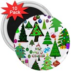 Oh Christmas Tree 3  Button Magnet (10 pack)