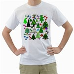 Oh Christmas Tree Men s Two-sided T-shirt (White)