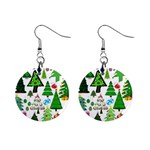 Oh Christmas Tree Mini Button Earrings