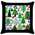 Oh Christmas Tree Black Throw Pillow Case