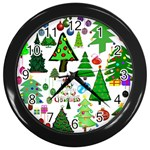 Oh Christmas Tree Wall Clock (Black)