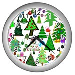 Oh Christmas Tree Wall Clock (Silver)