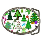 Oh Christmas Tree Belt Buckle (Oval)