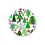 Oh Christmas Tree Magnet 3  (Round)
