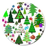 Oh Christmas Tree Magnet 5  (Round)