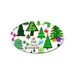 Oh Christmas Tree Sticker 10 Pack (Oval)