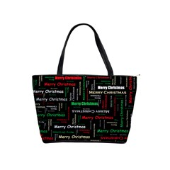 Merry Christmas Typography Art Large Shoulder Bag by StuffOrSomething