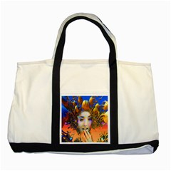 Organic Medusa Two Toned Tote Bag