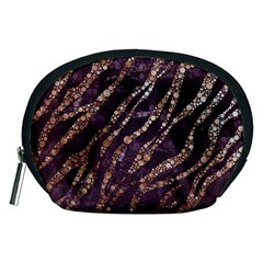 Lavender Gold Zebra  Accessory Pouch (medium) by OCDesignss