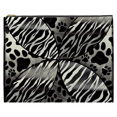 Crazy Animal Print  Cosmetic Bag (xxxl) by OCDesignss