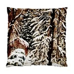 Castle Yard In Winter by Ave Hurley   Cushion Case (Two Sides)