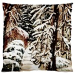Castle Yard in Winter -AveHurley ArtRevu.com- Large Flano Cushion Case (Two Sides)
