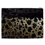 Cheetah Stars Gold  Cosmetic Bag (XXL) Back