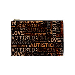 I Love Someone Autistic  Cosmetic Bag (medium) by OCDesignss
