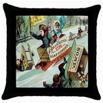 Clear The Track Throw Pillow Case (Black)