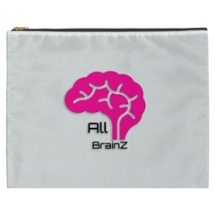 All Brains Leather  Cosmetic Bag (xxxl) by OCDesignss